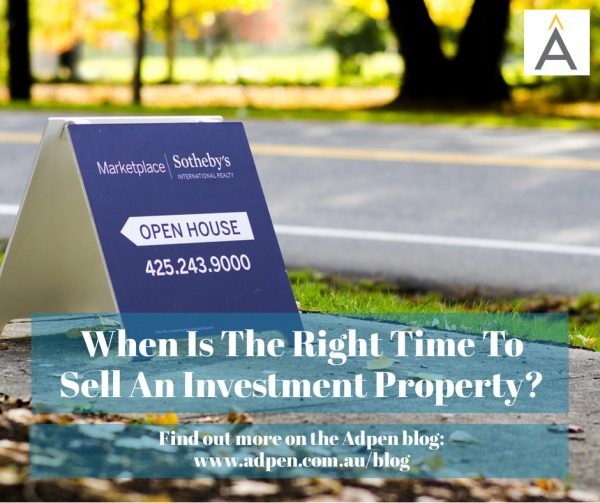 When is the right time to SELL an investment property?
