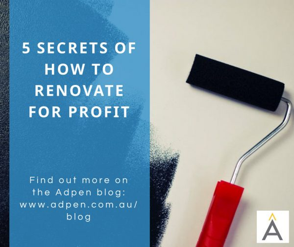 5 Secrets Of How To Renovate For Profit