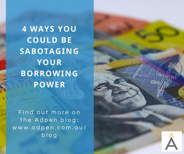 sabotaging borrowing power 1